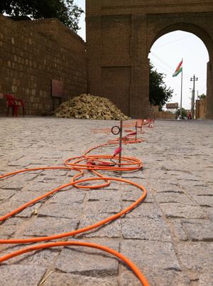 Prospezioni geofisiche sulla Cittadella di Erbil – MAECI-Sapienza Cooperation Project (foto DiSA-MAIKI)